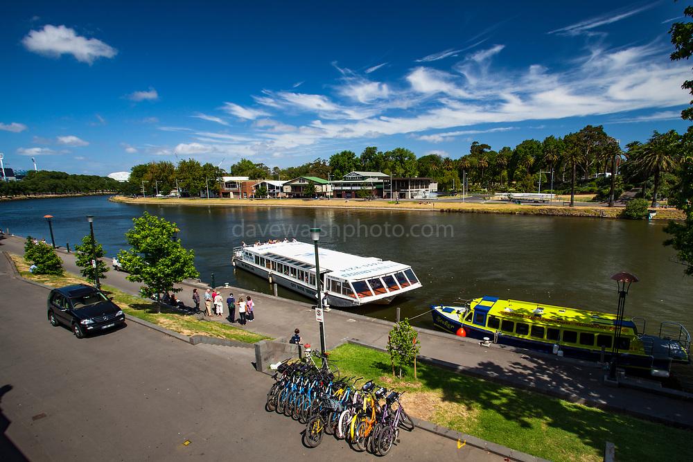 Cruise boat MV Melba on Yarra River, Melbourne, Victoria, Australia
