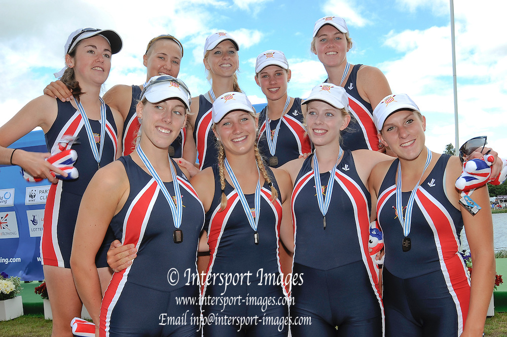 Eton. Great Britain. USA JW8+, Bronze Medal, FISA Junior  World Rowing Championships. Dorney Lake, Nr Windsor. Sunday, 07/08/2011 [Mandatory credit: Intersport Images]