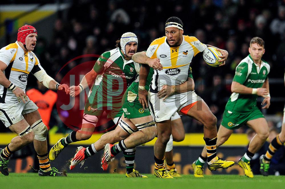Nathan Hughes of Wasps - Mandatory byline: Patrick Khachfe/JMP - 07966 386802 - 28/11/2015 - RUGBY UNION - Twickenham Stadium - London, England - London Irish v Wasps - Aviva Premiership.