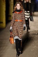 Ros Georgiou walks down runway for F2012 Rag & Bone collection in Mercedes Benz fashion week in New York on Feb 10, 2012 NYC