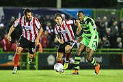 Forest Green Rovers Shamir Mullings(14) passes the ball during the EFL Sky Bet League 2 match between Forest Green Rovers and Lincoln City at the New Lawn, Forest Green, United Kingdom on 12 September 2017. Photo by Shane Healey.