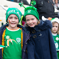 Cian and Shauna Murphy from O'Callaghan's Mills at the Tulla St Patrick's Day Parade