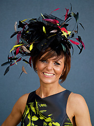 LIVERPOOL, ENGLAND - Thursday, April 6, 2017: Rachael Sherwen, 45 from Whitehaven, wearing a dress from Coast, during The Opening Day on Day One of the Aintree Grand National Festival 2017 at Aintree Racecourse. (Pic by David Rawcliffe/Propaganda)