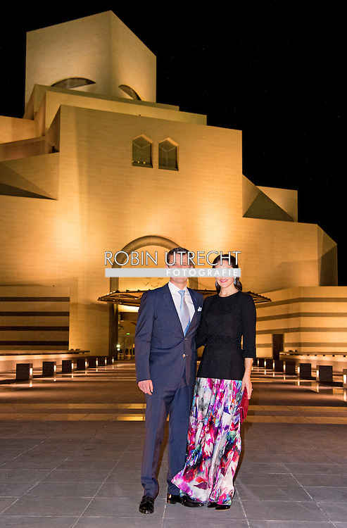 2-3- 2016  DOHA QATAR - Crownprincess Mary and Crownprince Frederik Visit of the Doha Islamic Museum and tour of the museum by H.E. Sheikha Al-Mayassa Al-Thani  Crownprincess Mary and Crownprince Frederik during a 2 day business visit to Qatar .  COPYRIGHT ROBIN UTRECHT<br /> Kroonprinses Mary en kroonprins Fredrik uit denemarken tijdens een twee daags handelsmissie bezoek aan qatar
