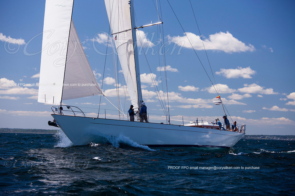 Aurelius sailing at the start of the 2012 Newport Bermuda Race.