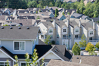 High angle view of a housing development in Issaquah, WA United States