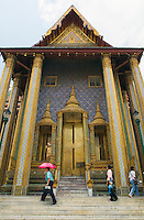 Temple at Wat Phra Kaew near Royal Grand Palace Bangkok Thailand&#xA;<br />
