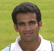 Photo Peter Spurrier.Zaheer Khan 20020620, India Test Team, Nets, Lords. [Mandatory Credit Peter Spurrier:Intersport Images]