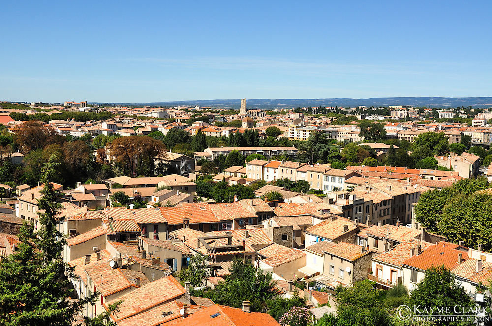The town of Carcassonne is located in southern France in the region of Languedoc-Roussillon.