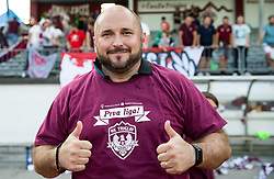 Sinisa Brkic, coach of Triglav celebrate after winning during 2nd Leg football match between NK Triglav Kranj and NS Drava Ptuj in Qualifications of Prva Liga Telekom Slovenije 2018/19, on June 6, 2018 in Kranj, Slovenia. Photo by Vid Ponikvar / Sportida