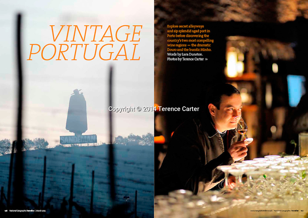 National Geographic Traveller UK, Feature on Portugal wines and wine regions.