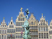 Guild houses on the Grote Markt, the market square in Antwerp, Belgium. Remainders of the Golden Age!