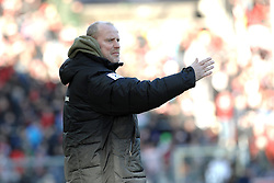 05.02.2012, MAGE SOLAR Stadion, Freiburg, GER, 1. FBL, SC Freiburg vs SV Werder Bremen, 20. Spieltag, im Bild Thomas SCHAAF (Trainer SV Werder Bremen) enttaeuscht, frustriert // during the German Bundesliga Match between SC Freiburg and SV Werder Bremen at the MAGE SOLAR Stadium in Freiburg, Germany, 2012/02/05. EXPA Pictures © 2012, PhotoCredit: EXPA/ Eibner/ Sven Lägler..***** ATTENTION - OUT OF GER *****