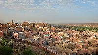 A morning view over the town of Boumalne Dades in Ouarzazate Province Morocco