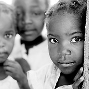 Young Zambian children in Lozi village