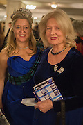 MRS. HOUSTON MORRIS WITH HER MOTHER; , The Royal Caledonian Ball 2015. Grosvenor House. Park Lane, London. 1 May 2015.