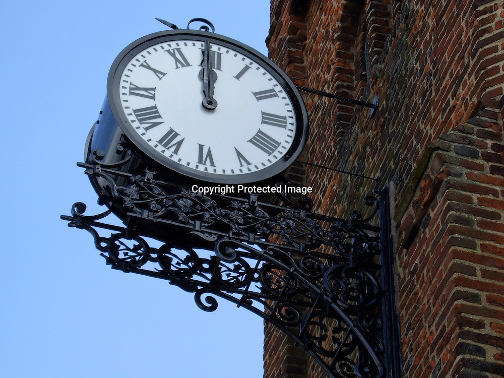 Town Hall Clock at noon