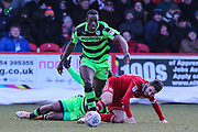 Forest Green Rovers Isaiah Osbourne(34) during the EFL Sky Bet League 2 match between Accrington Stanley and Forest Green Rovers at the Wham Stadium, Accrington, England on 17 March 2018. Picture by Shane Healey.