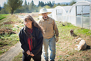 Portrait of farmers Shari Sirkin and Bryan Dickerson.