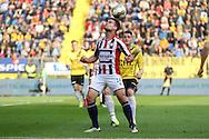 19-05-2016 VOETBAL:NAC BREDA - WILLEM II:BREDA <br /> Guus Joppen van Willem II in duel met Michael Dingsdag van NAC Breda <br /> <br /> Foto: Geert van Erven