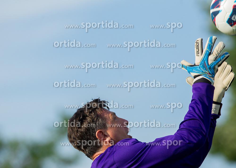 Borut Pahor na dobrodelni nogometni tekmi SD Bilje, katere izkupicek je namenjen Zavodu Lu ter Fundaciji Vrabcek upanja, on June 22, 2013 in Bilje pri Novi Gorici, Slovenia. (Photo by Vid Ponikvar / Sportida.com)