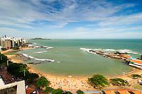 Brasil - Guarapari - Espirito Santo - Vista da Praia da Areia Preta e Praia das Castanheiras no Centro de Guarapari - Foto: Gabriel Lordello/ Mosaico Imagem