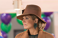 Utrecht, 24-02-2016<br /> <br /> Queen Maxima attends a National Education Exhibition.<br /> <br /> <br /> PUBLICATION ONLY IN FRANCE<br /> <br /> COPYRIGHT ROYALPORTRAITS EUROPE/ BERNARD RUEBSAMEN