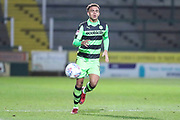 Forest Green Rovers Jordan Simpson(12) on the ball during the EFL Trophy 3rd round match between Yeovil Town and Forest Green Rovers at Huish Park, Yeovil, England on 9 January 2018. Photo by Shane Healey.