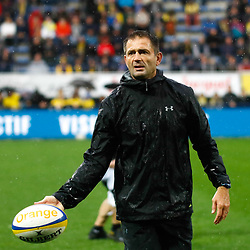Franck AZEMA coach of Clermont during the Top 14 match between Clermont and Lyon on October 20, 2019 in Clermont-Ferrand, France. (Photo by Romain Biard/Icon Sport) - Franck AZEMA - Stade Marcel Michelin - Clermont Ferrand (France)