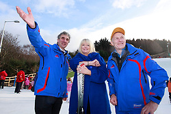 No fee for Repro: 22/01/2012.Robert Norwood (left) and Don MacManus (right) are pictured showing TD Mary Mitchell O'Connor the new Snowflex slopes during World Snow Day at the Ski Club of Ireland in Kilternan who hosted a festival day of snowsports activities. Pic Andres Poveda.