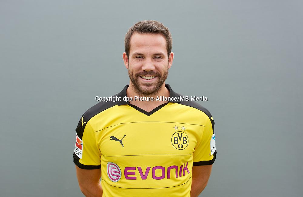 Photocall German Soccer Bundesliga 2015/16 - Borussia Dortmund on 15 July 2015 in Dortmund, Germany: Gonzalo Castro