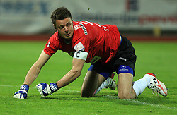 Goalkeaper Aleksander Seliga at 30th Round of Slovenian First League football match between NK Domzale and NK MIK CM Celje in Sports park Domzale, on April 25, 2009, in Domzale, Slovenia. Celje won 3:0. (Photo by Vid Ponikvar / Sportida)