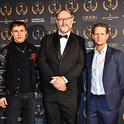 William Moseley, Lucas Young and Alex Fidelski arrivers at Gold Movie Awards at Regents Street Theatre, on 9th January 2020, London, UK.