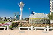 Bayterek Tower, landmark of Astana, Kazakhstan
