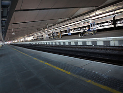 UK ENGLAND LONDON MAR14 - Rail tracks and platforms at the Blackfriars Station, built on a bridge spanning the river Thames in central London.<br /> <br /> jre/Photo by Jiri Rezac<br /> <br /> © Jiri Rezac 2014