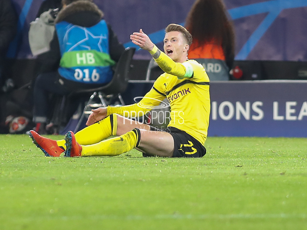 Marco Reus of Borussia Dortmund during the Champions League round of 16, leg 2 of 2 match between Borussia Dortmund and Tottenham Hotspur at Signal Iduna Park, Dortmund, Germany on 5 March 2019.