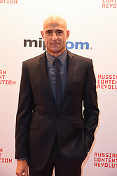 Mark strong poses as arriving for the opening ceremony of the MIPCOM in Cannes - Marche international des contenus audiovisuels du 16-19 Octobre 2017, Palais des Festivals, Cannes, France.<br />