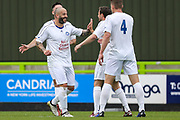 Trevor Horsley XI Stuart Fleetwood scores a goal 1-1 and celebrates during the Trevor Horsley Memorial Match held at the New Lawn, Forest Green, United Kingdom on 19 May 2019.