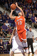 Idaho State forward Joanna Hixon (10) puts up a shot from the lane against Kansas State, during the first half at Bramlage Coliseum in Manhattan, Kansas, March 17, 2006.  K-State defeated the Bengals 88-68 in the first round of the WNIT.