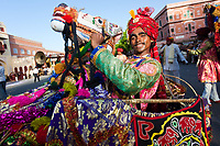 Jaipur, Rajasthan,India - March 29 : people and elephants of the city are celebrating the gangaur festival one of the most important of the year march 29 2009 in jaipur,rajasthan,india