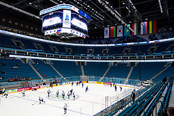 Players at warm-up prior to ice hockey match between South Korea and Slovenia at IIHF World Championship DIV. I Group A Kazakhstan 2019, on April 30, 2019 in Barys Arena, Nur-Sultan, Kazakhstan. Photo by Matic Klansek Velej / Sportida