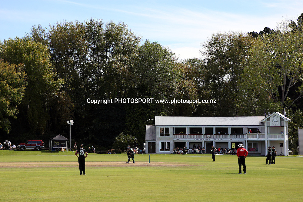 General View, New Zealand White Ferns v Australia, Rosebowl cricket series, One day international, Queens Park, Invercargill. 6 March 2010. Photo: William Booth/PHOTOSPORT
