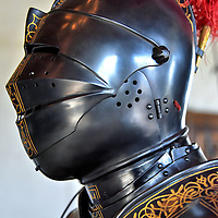 Suit of Armour at Egeskov Castle in Kv&aelig;rndrup, Denmark <br />