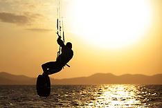 20120319 CRO: Kitesurfen Test Kite Surfer Zadar, Croatie