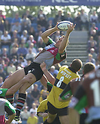 Intersport Images. .Photo: Peter Spurrier.Zurich Premiership - NEC Harlequins v London Wasps.Quin's, Tony Diprose wins the line out ball... ...........[Mandatory Credit, Peter Spurrier/ Intersport Images][Mandatory Credit, Peter Spurrier/ Intersport Images]