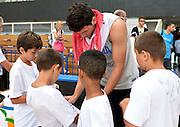 TRENTO 09/08/2013 - ALLENAMENTO<br /> NELLA FOTO ALESSANDRO GENTILE<br /> FOTO CIAMILLO