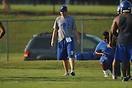 Former Oxford High quarterback Chris Cutcliffe, at practice in Oxford, Miss. on Monday, August 1, 2011, has joined the coaching staff this season.