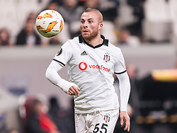 Gokhan Tore of Besiktas JK during the UEFA Europa League group I match between between Besiktas AS and Malmo FF at the Besiktas Park on December 13, 2018 in Istanbul, Turkey