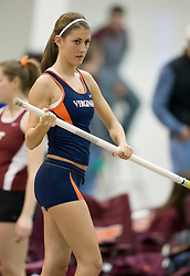 Kathleen Darraugh (Virginia) prepares for the pole vault.  Day 1 of the Virginia Tech Invitational Track and Field meet was held at the Rector Field House on the campus of Virginia Tech in Blacksburg, VA on January 11, 2008.