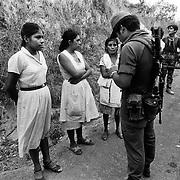 Suchitoto, El Salvador, May 7th 1986, roadblock.